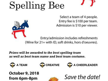 Oct. 9: Adult Team Spelling Bee