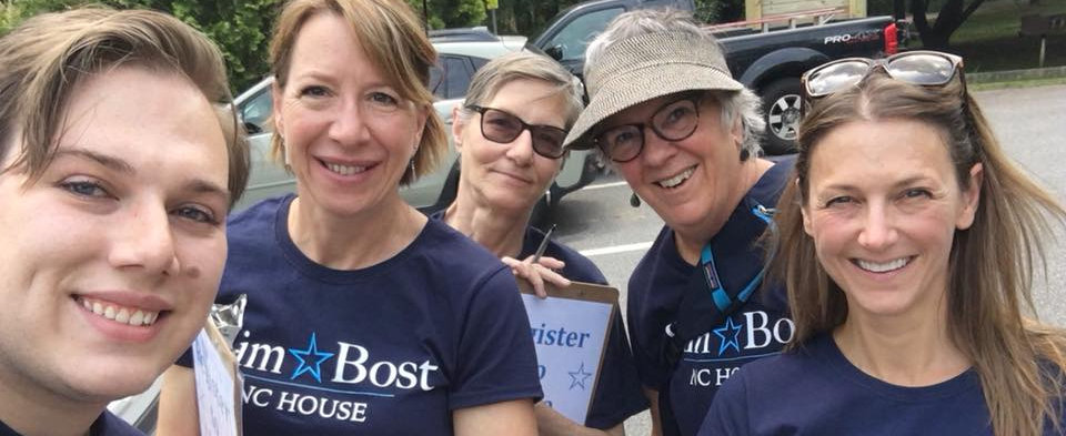 Kim Bost canvass team