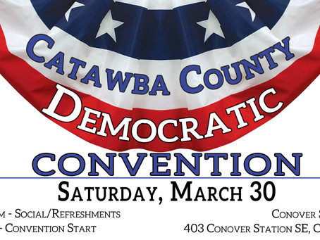 Democratic County Convention on March 30