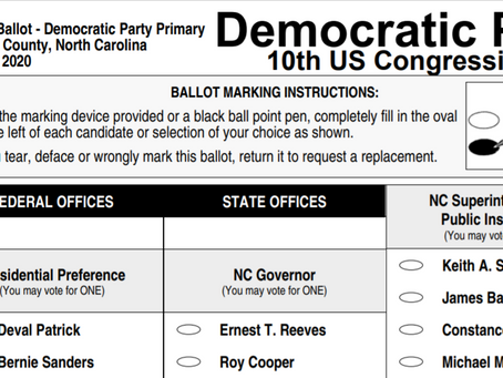 Democratic Sample Ballots for Primary