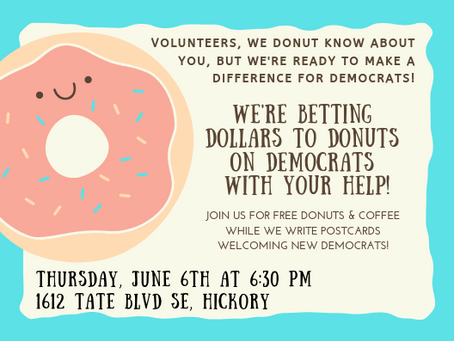 Dollars to Donuts Volunteer Event
