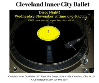 Disco Night at Cleveland Inner City Ballet!