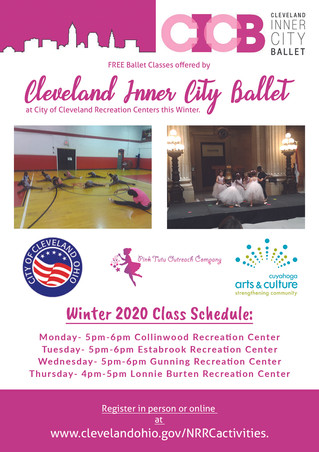 FREE Ballet Classes with Cleveland Inner City Ballet this Winter!