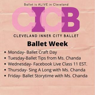 Cleveland Inner City Ballet Virtual Ballet Week