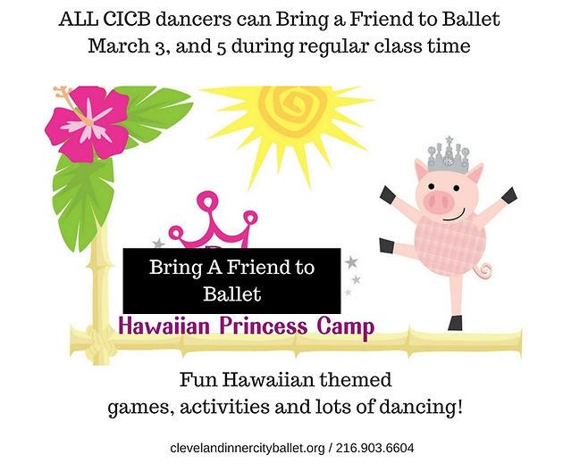 Bring a Friend to Ballet Day at CICB