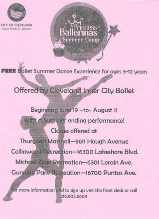 CICB offering FREE Ballet classes!