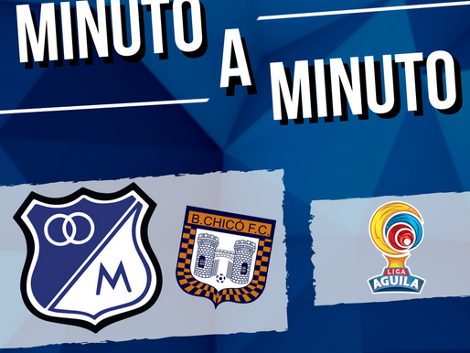 Min a min: MILLONARIOS 2 - 2 Boyacá Chicó