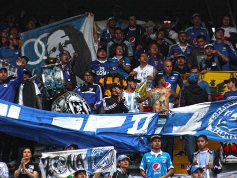 La hinchada de Millonarios disfrutó la goleada al Bucaramanga