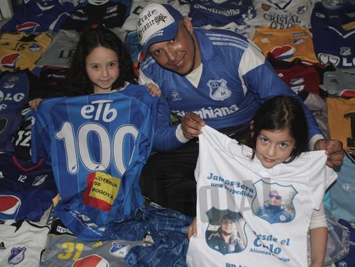 #HinchaAzul: Mario Ladino, amor mediante las camisetas de Millonarios