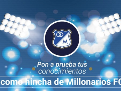 Millonarios lanza trivia oficial sobre la historia del equipo