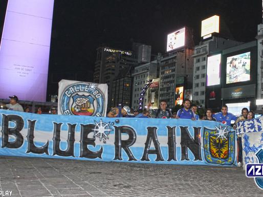 Blue Rain realiza plantón en las oficinas de Millonarios