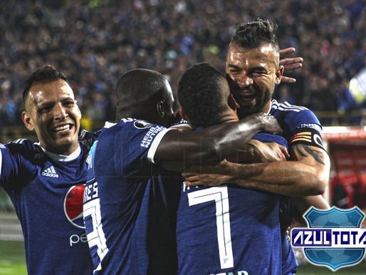 La goleada de Millonarios al Deportivo Lara desde el lente de Azul Total