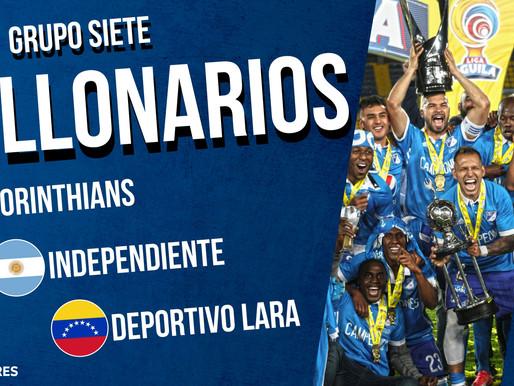 Corinthians, Independiente y Dep. Lara rivales de Millonarios en Libertadores