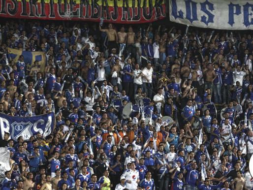 Los hinchas embajadores pintaron de azul las tribunas del Campín