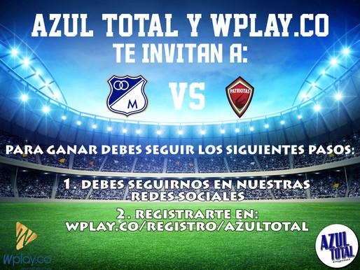 Azul Total y Wplay te llevan al partido entre MILLONARIOS y Patriotas