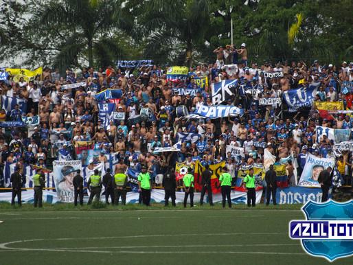 ¡La hinchada de Millonarios armó una fiesta en Villavicencio!