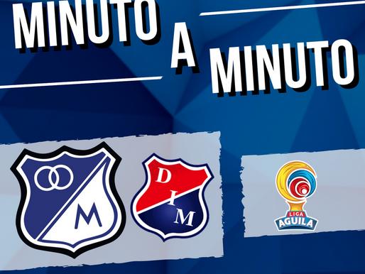 Min a min: MILLONARIOS 0 - 1 Medellín