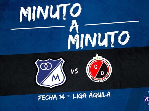 Min a min: MILLONARIOS 1-0 Cúcuta Deportivo