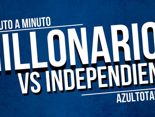 Min a min: MILLONARIOS 1 - 1 Independiente