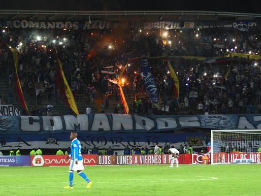 Dimayor sancionó con tres fechas a Millonarios por exhibición de pancartas y uso de bengalas