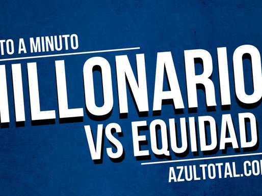Min a min: MILLONARIOS (3) 2 - 1 (2) Equidad