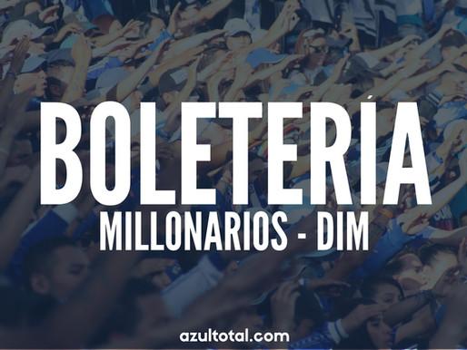 BOLETERÍA: Millonarios y su hinchada vuelven al Campín