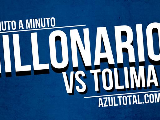 Min a min: Tolima 1 - 0 MILLONARIOS