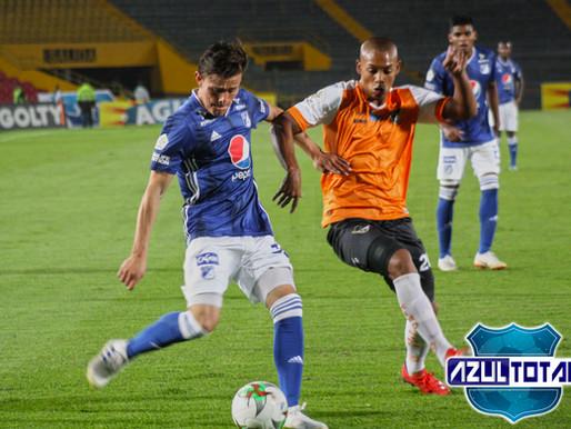 Millonarios empata 1-1 con Llaneros en discreto partido de Copa
