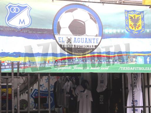 'El Aguante': una tienda teñida de azul