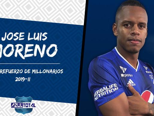 José Luis Moreno, defensa central, nuevo jugador de Millonarios