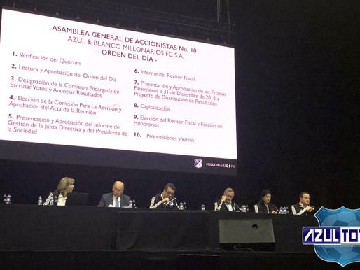 Informe de Gestión 218 de la Asamblea General de Millonarios