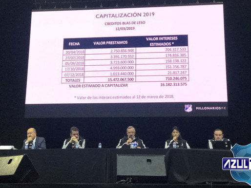 Blas de Leso aumentó del 73% al 81% sus acciones de Millonarios