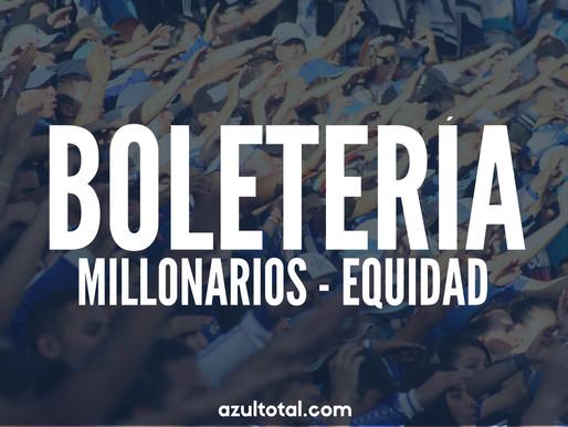 BOLETERÍA: Luego de más de dos meses, Millonarios volverá a jugar con público