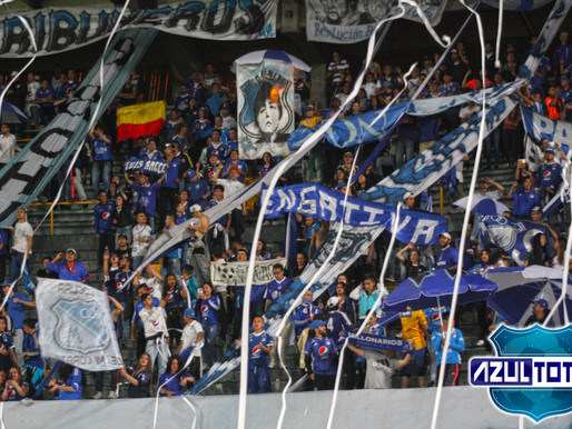 La hinchada de Millonarios pinto de azul las tribunas del Campín
