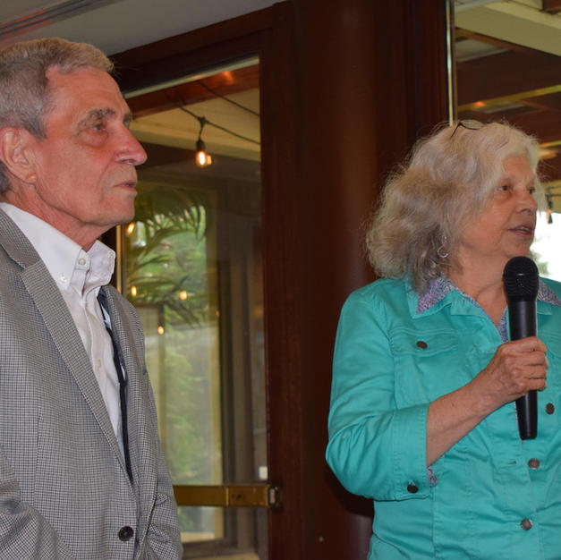 Debbie Maxwell honors Budd Mazurek