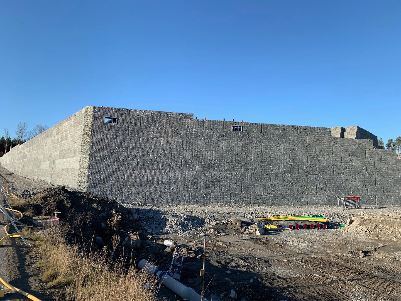 Mur 1 av 2 på ICA projektet