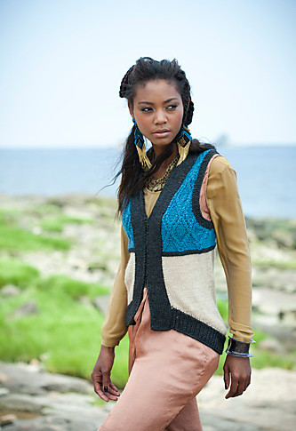 #21 Cabled Colorblock Vest