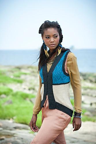#21 Cabled Colorblock Vest