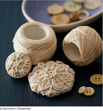 Irish Crochet Buttons Piecework Magazine