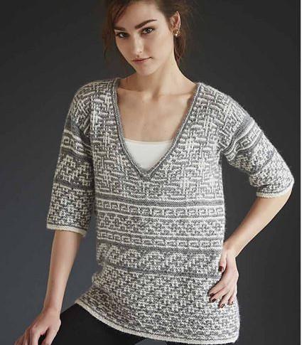 #08 Mosaic Sampler Pullover
