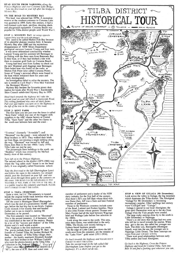 Tilba Tour Map