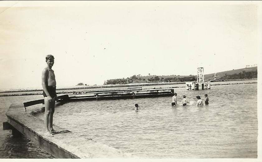 Swimming Platform 1945