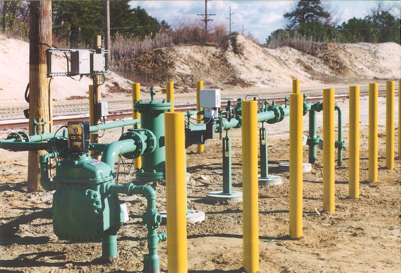 Meter and Regulator Station Buildup