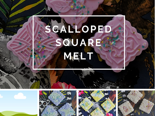 Scalloped square melt