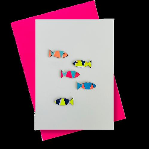 Grußkarte mit Fischen