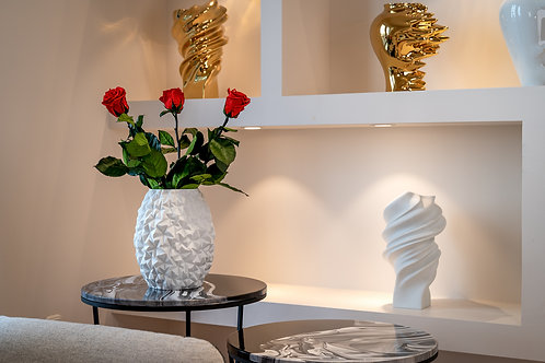 Rosenthal Vase Phi (Snow) mit Infinity Rosen
