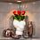 Thumbnail: Rosenthal Vase Skum mit Infinity Rosen