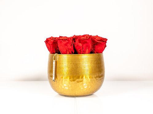 Golden Princess mit 12 Infinity Rosen