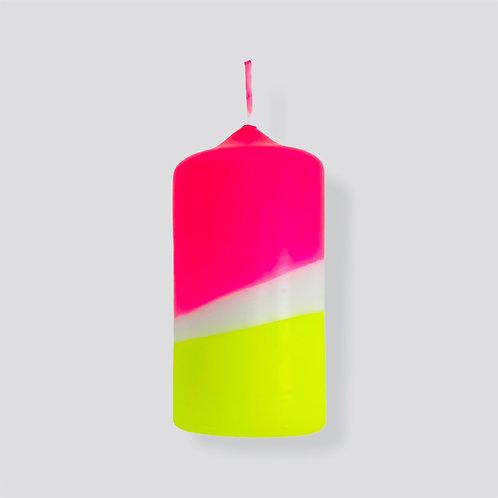 Dip Dye Neon Kerze - Sunny Day