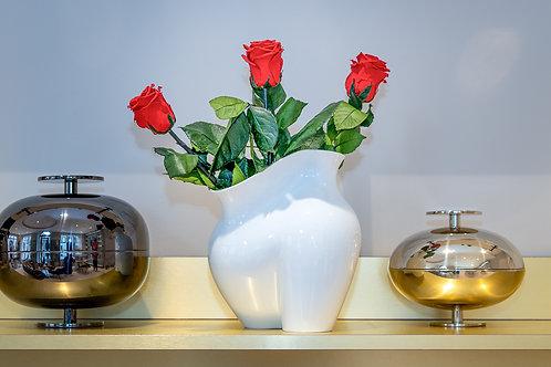 Rosenthal Vase La Chute mit Infinity Rosen